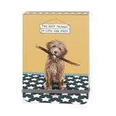 The Best Things In Life Are Free Little Dog Laughed Notebook