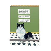 I Want Dogs To Like Me Black Cat Little Dog Laughed Notebook