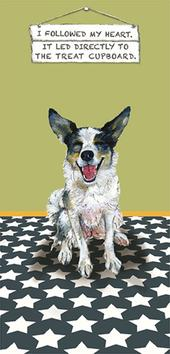 Treat Cupboard Little Dog Laughed Greeting Card