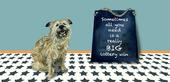 Really Big Lottery Win Little Dog Laughed Greeting Card