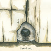 I Smell Cat Little Dog Laughed Greeting Card