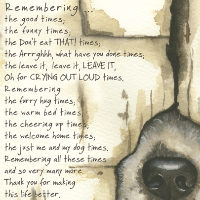 Remembering Dog Little Dog Laughed Greeting Card