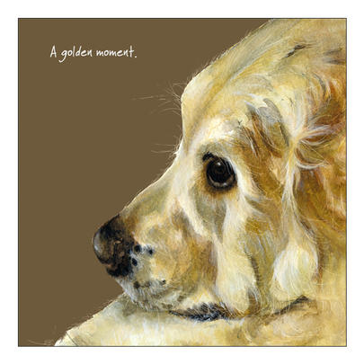 Golden Moment Little Dog Laughed Greeting Card