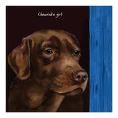 Chocolate Girl Little Dog Laughed Greeting Card