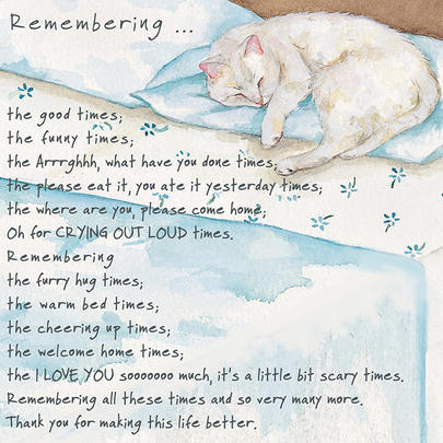 Remembering Cat Little Dog Laughed Greeting Card