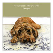 Little Cockapoo Little Dog Laughed Greeting Card