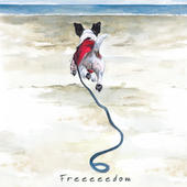 Freedom Dog On Beach Little Dog Laughed Greeting Card