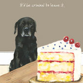 Criminal To Leave It Little Dog Laughed Greeting Card