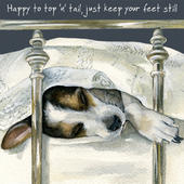 Top & Tail Little Dog Laughed Greeting Card