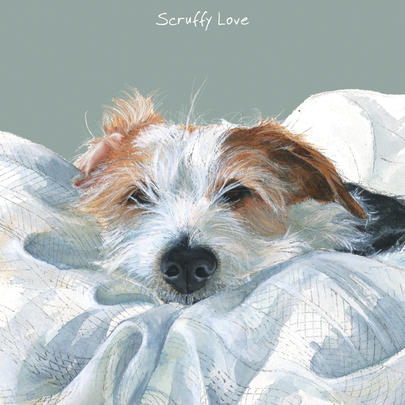 Scruffy Love Jack Russell Little Dog Laughed Greeting Card