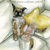 Cold Beer Border Terrier Little Dog Laughed Greeting Card