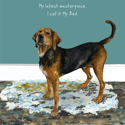 Latest Masterpiece Little Dog Laughed Greeting Card