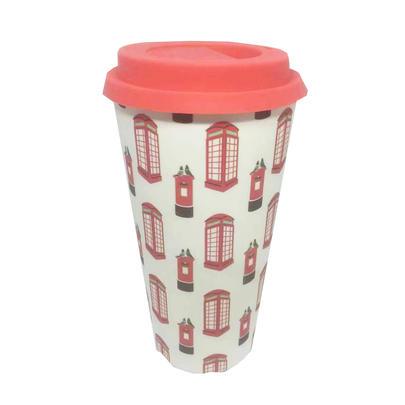 Eco Post & Phone Box Bamboo Travel Mug With Silicone Lid & Band