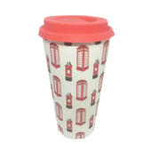 Eco Post & Phone Box Bamboo Travel Mug With Silicone Lid & Band