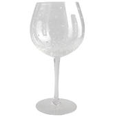 Hand Painted Silver Spots Design Gin Goblet Glass In Gift Box