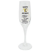 Happy 90th Birthday Celebrate In Style Champagne Flute Glass In Gift Box