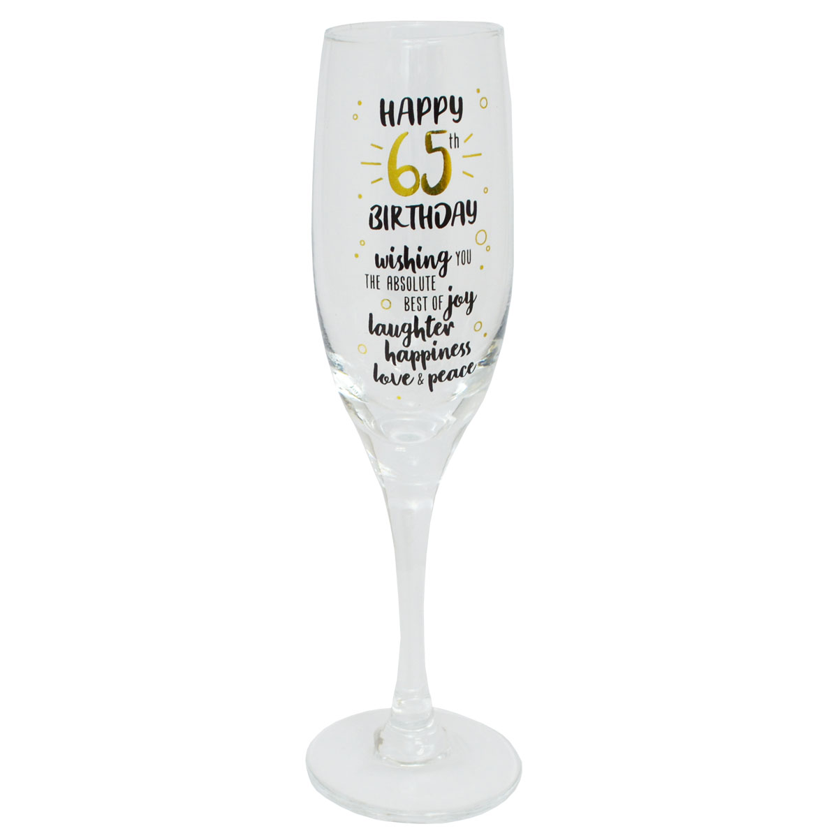 30th Birthday Stars Champagne Flute Glass Gift. G31830