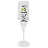 Happy 65th Birthday Celebrate In Style Champagne Flute Glass In Gift Box