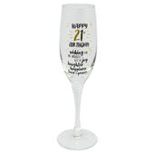 Happy 21st Birthday Celebrate In Style Champagne Flute Glass In Gift Box