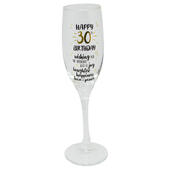 Happy 30th Birthday Celebrate In Style Champagne Flute Glass In Gift Box