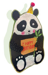Panda Happy Birthday 3D Paper Dazzle Birthday Greeting Card