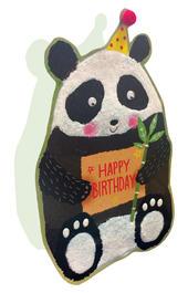 Panda Happy Birthday 3D Paper Dazzle Birthday Greeting Card