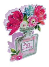 Perfume Bottle Happy Birthday 3D Paper Dazzle Greeting Card