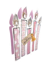 Sparkle Dust Candles 3D Paper Dazzle Birthday Greeting Card