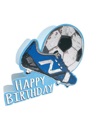 Football Happy Birthday 3D Paper Dazzle Birthday Greeting Card