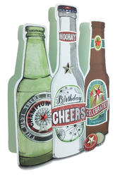 Cheers Beers 3D Paper Dazzle Birthday Greeting Card