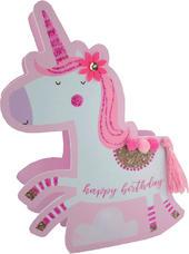 Unicorn Happy Birthday 3D Paper Dazzle Birthday Greeting Card