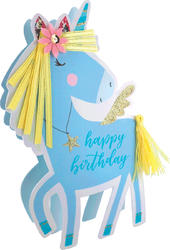 Unicorn Happy Birthday 3D Paper Dazzle Birthday Greeting Card