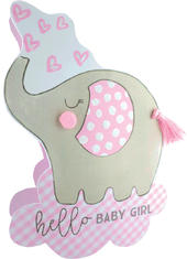Birth New Baby Girl 3D Paper Dazzle Congratulations Greeting Card