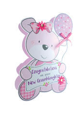 Birth New Baby Granddaughter 3D Paper Dazzle Congratulations Greeting Card