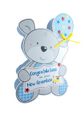 Birth New Baby Grandson 3D Paper Dazzle Congratulations Greeting Card