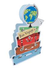 Bon Voyage Suitcases 3D Paper Dazzle Greeting Card