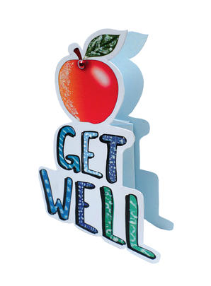 Get Well Soon 3D Paper Dazzle Greeting Card