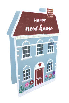 New Home 3D Paper Dazzle Congratulations Greeting Card