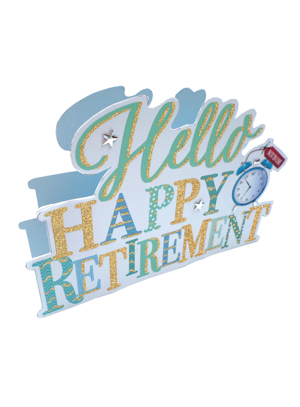 Happy Retirement 3D Paper Dazzle Greeting Card