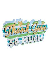 Thank You Lettering 3D Paper Dazzle Greeting Card