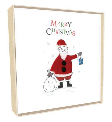 Box of 5 Santa Hand-Finished Christmas Cards