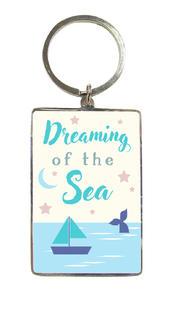 Dreaming Of The Sea Metallic Keyring