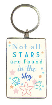 Not All Stars Metallic Keyring