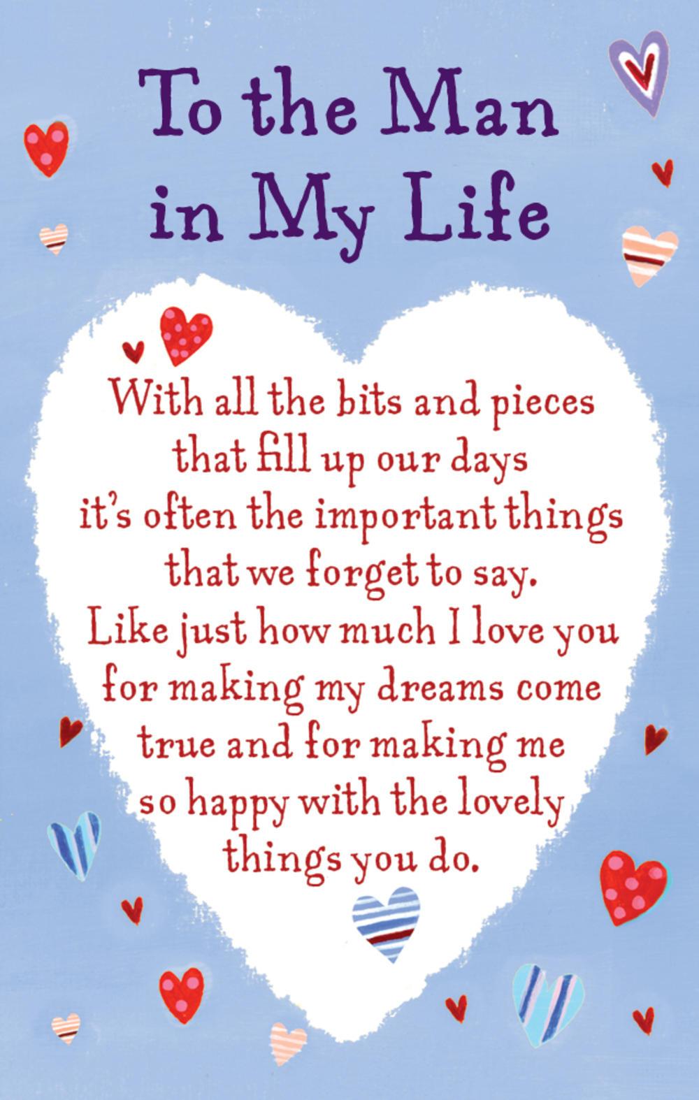 To the Man in My Life Heartwarmers Keepsake Credit Card & Envelope