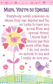 Mum, You're So Special Heartwarmers Keepsake Credit Card & Envelope