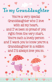 To My Granddaughter Heartwarmers Keepsake Credit Card & Envelope