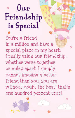 Our Friendship Is Special Heartwarmers Keepsake Credit Card & Envelope