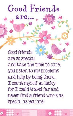 Good Friends Heartwarmers Keepsake Credit Card & Envelope