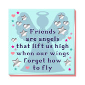 Friends Are Angels Fridge Magnet