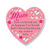 Mum Pink Heart Fridge Magnet